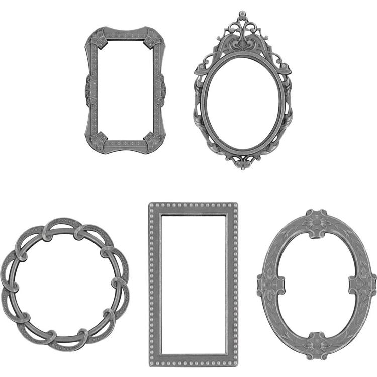 52598 Tim Holtz Idea-Ology Metal Deco Frames 5/Pkg (TH93792).