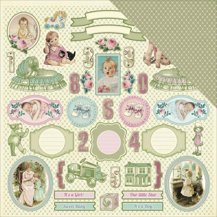 "52601 ScrapBerry's Mother's Treasure Double-Sided Cardstock 12""X12 Tags."