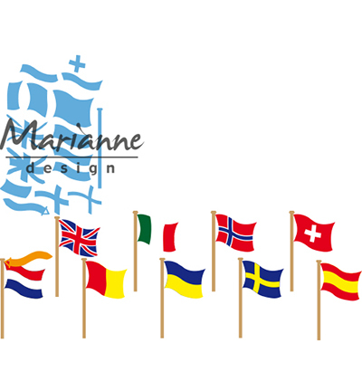 52620 Marianne Design Creatable Flags (LR0603).