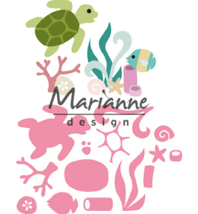 52636 Marianne Design Collectable Sealife by Marleen (COL1468).