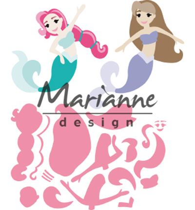 52637 Marianne Design Collectable Mermaids by Marleen (COL1467).