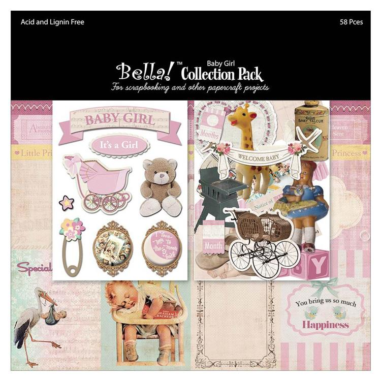 "52639 Bella! Collection Pack 12""X12"" Baby Girl."