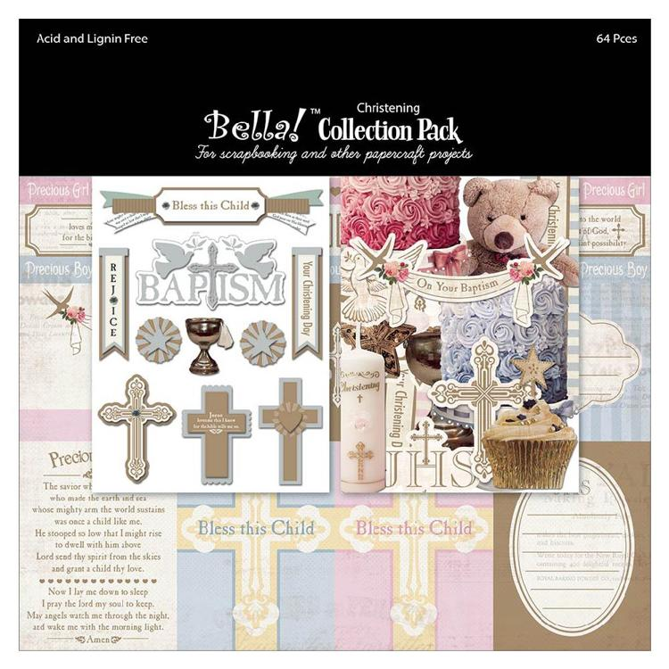 "52640 Bella! Collection Pack 12""X12"" Christening."