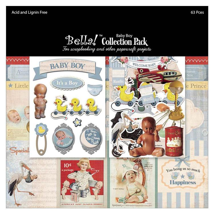 "52641 Bella! Collection Pack 12""X12"" Baby Boy."
