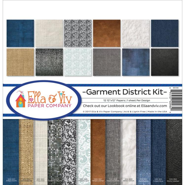 "52642 Ella & Viv Collection Kit 12""X12"" Garment District."