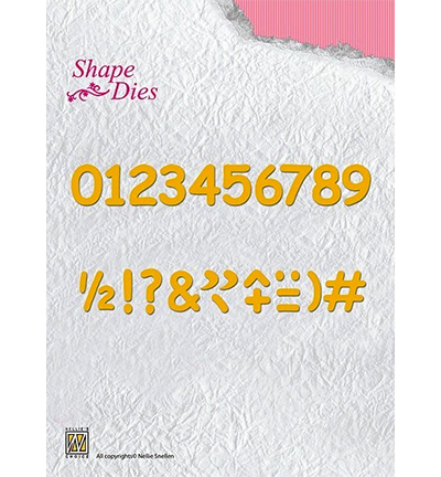 52697 Nellie Snellen Shape Dies - Numbers & Punctuation Marks (SD038).