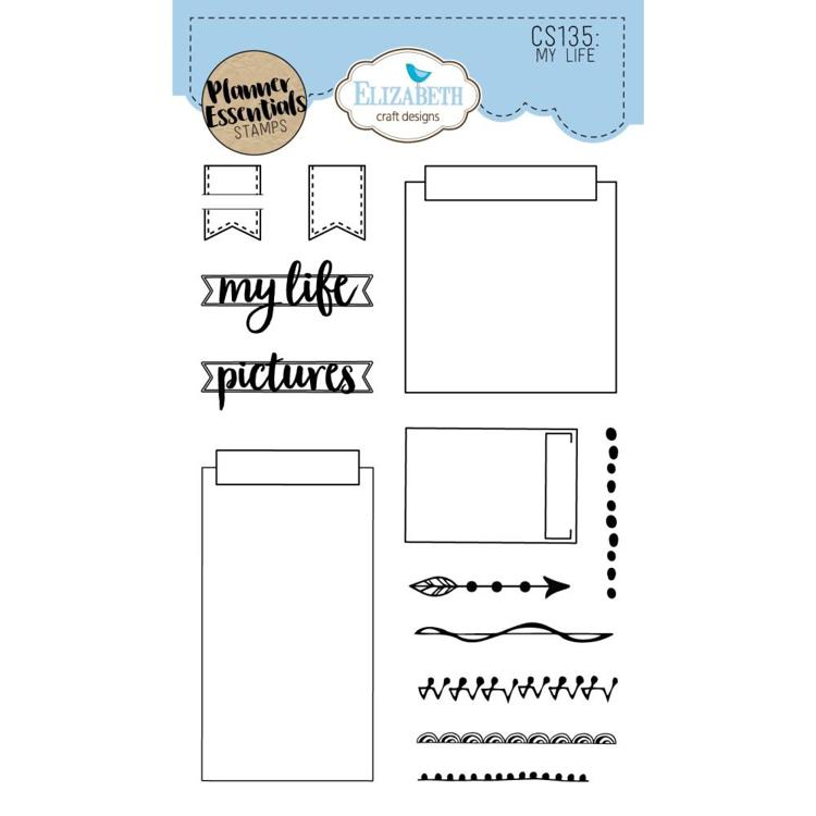 52742 Elisabeth Craft Clear Stamps My Life (CS135).