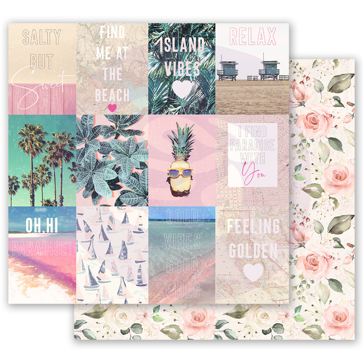 52771 Prima Marketing Golden Coast 12x12 Inch Sheet Summer Feeling (995041).