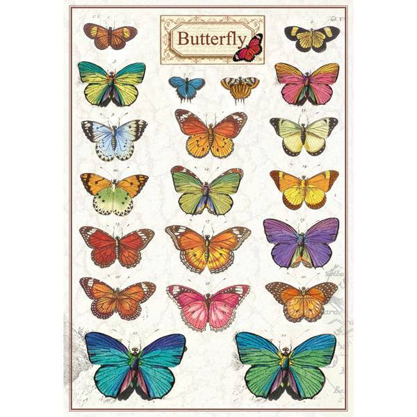 52799 Stamperia Pre Cut Adhesive Labels A5 Butterfly (DF3DA520).