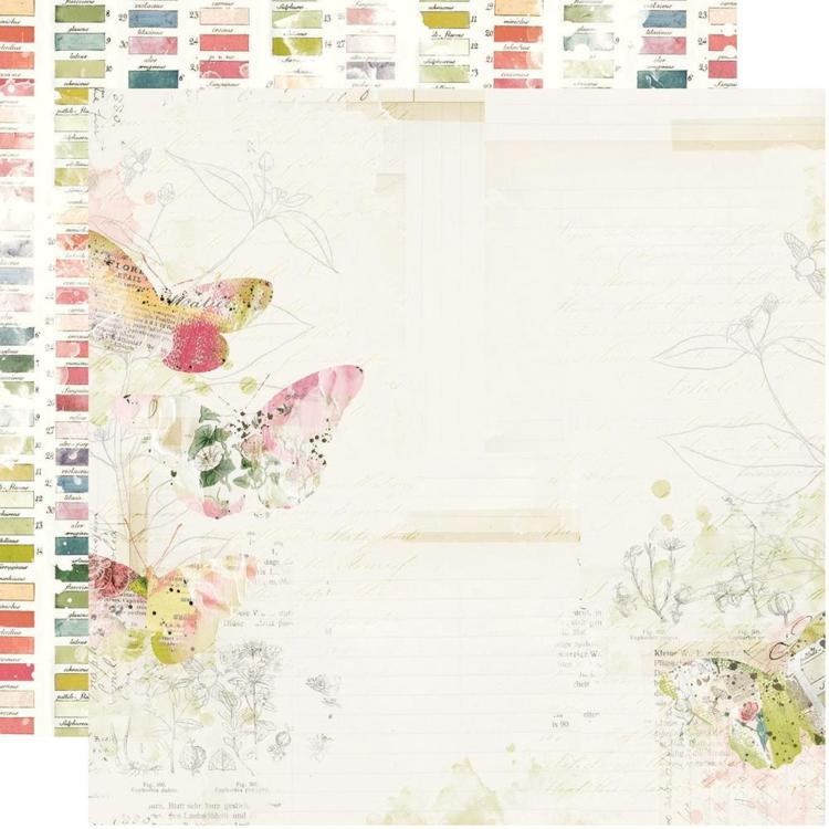 "52812 Simple Vintage Botanicals Double-Sided Cardstock 12""X12"" Everday Bliss."