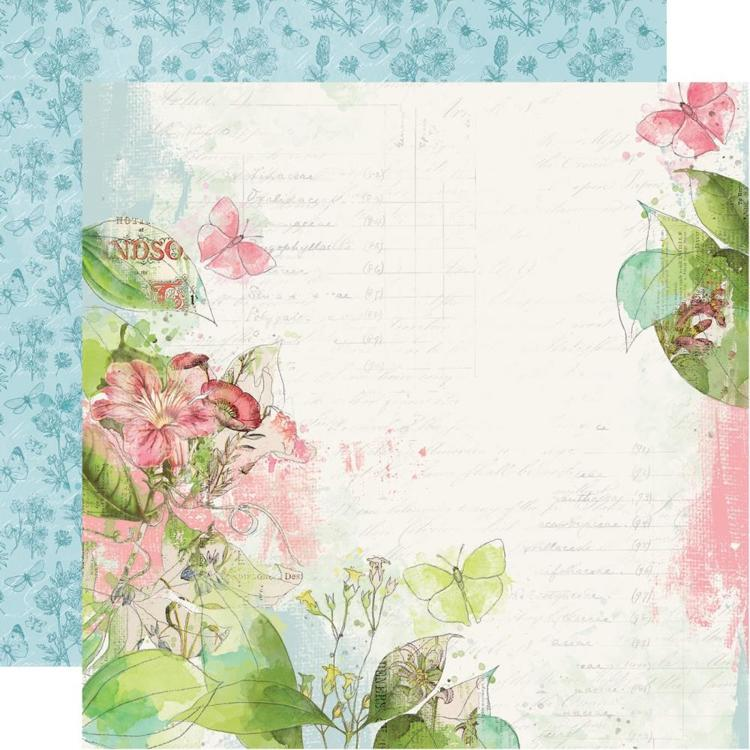 "52813 Simple Vintage Botanicals Double-Sided Cardstock 12""X12"" Shine Bright."