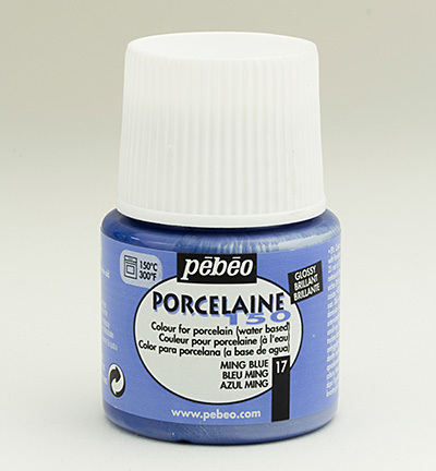 52889 Porcelaine 150 Glossy Ming Blue 25 ml (024-017).