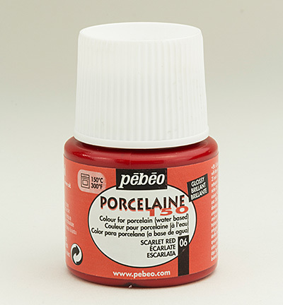 52895 Porcelaine 150 Glossy Scarlet 25 ml (024-006).