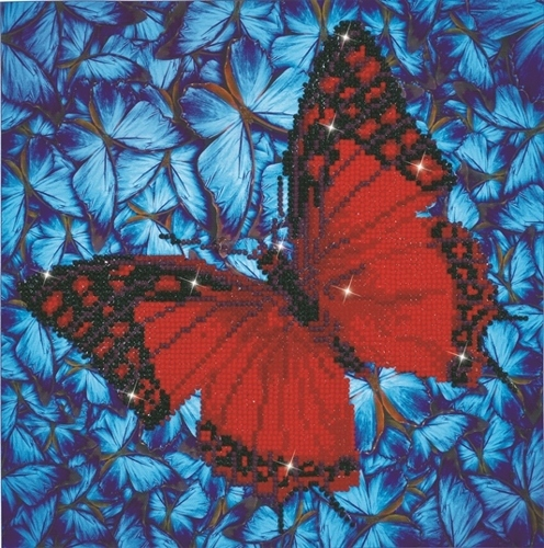 52904 DD5.020 Diamond Dotz - 30.5 x 30.5cm - Flutterby Red.