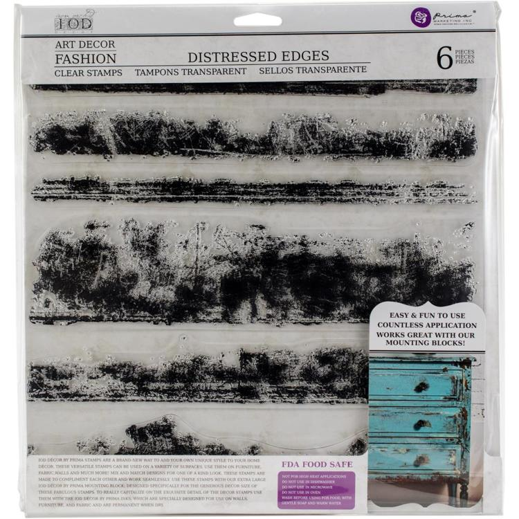 "52922 Iron Orchid Designs Decor Clear Stamps 12""X12"" Distressed Edges (816476)."