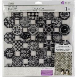"52920 Iron Orchid Designs Decor Clear Stamps 12""X12"" Mosaico (816537)."