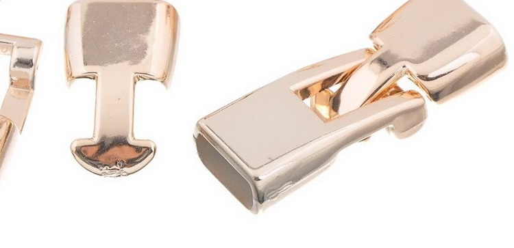 52928 Rose Gold (CCB Plastic) Toggle Sluiting  24x13mm 2 Setjes.