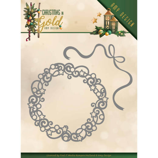 52979 Dies - Amy Design - Christmas in Gold - Christmas Wreath (ADD10181).