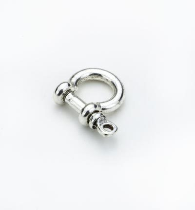 53083 Hobby Crafting Fun Metal Fast. with Screw Pin, Platinum 18x18.5mm (inner Ø 10mm) (12349-4901).