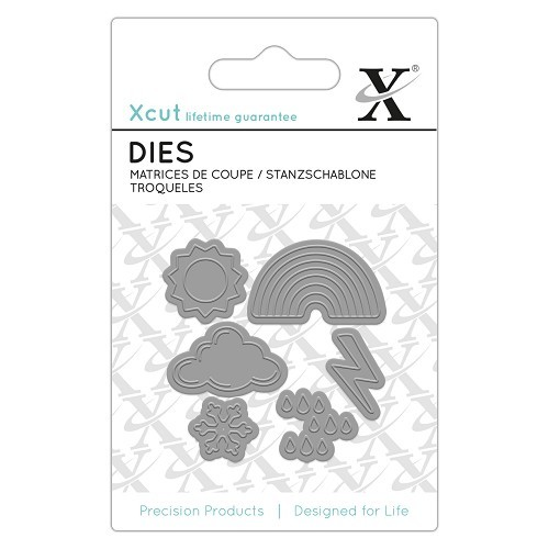 53123 Docrafts XCut Mini Die (6pcs) - Weather Icons (503641).