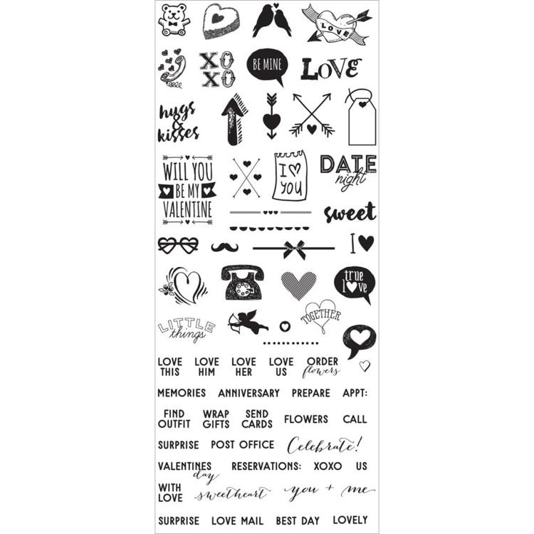 53141 Prima My Prima Planner Clear Stamps Valentines Day Mini Icons & Words (591625).