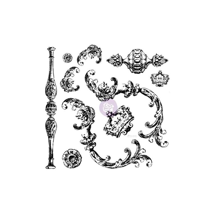 "53164 Prima Iron Orchid Designs Decor Clear Stamps 12""X12"" Louis (814335)."