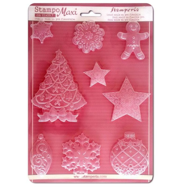 53209 Stamperia Soft Maxi Mould A4 Christmas (K3PTA423).