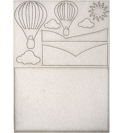 53224 Creative Expressions Chipboard Hot Air Balloon A5.