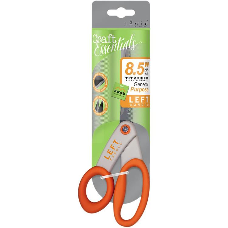 "53255 Tonic Studios Kushgrip General Purpose Scissors 8.5"" Left-Handed (839E)."