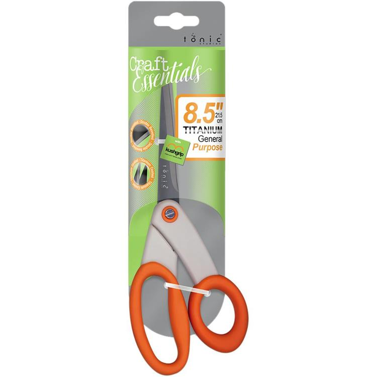 "53256 Tonic Studios Kushgrip General Purpose Scissors 8.5"" Right-Handed (833E)."
