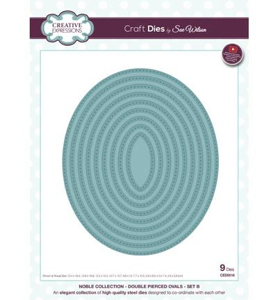 53293 Superkoopje Creative Expressions Double Pierced Ovals - Set B (CED5516).