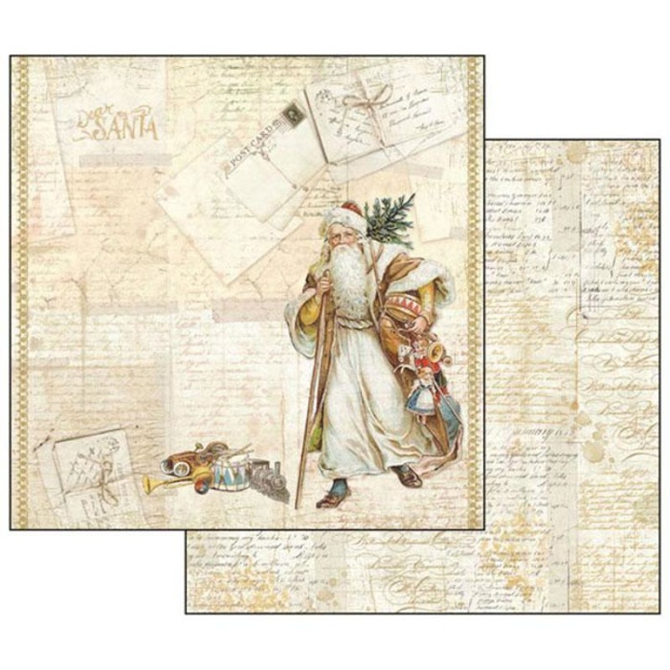 53335 Stamperia Christmas Santa Claus 12x12 Inch Paper Sheet (SBB471).