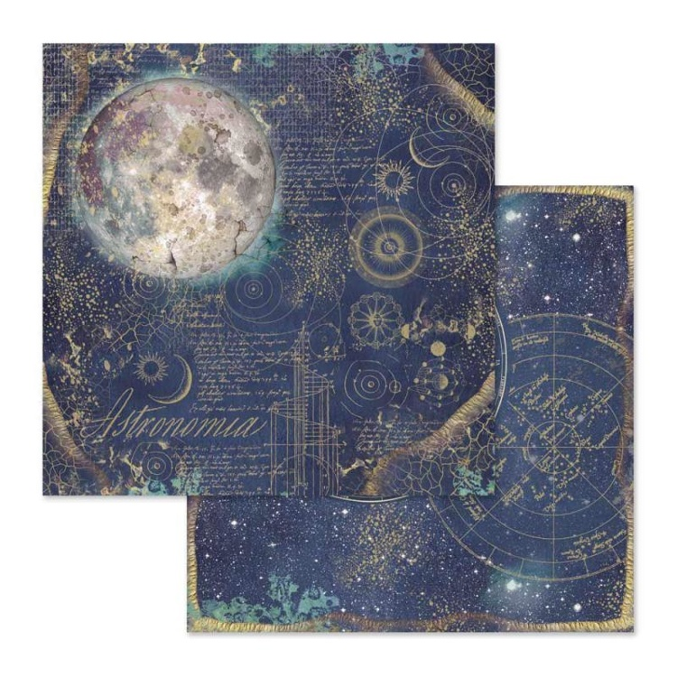 53346 Stamperia Cosmos Astral 12x12 Inch Paper Sheet (SBB614).