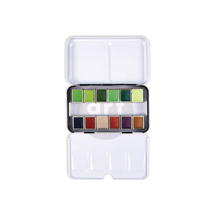 53391 Prima Watercolor Confections Watercolor Pans 12/Pkg Terrain (639785).