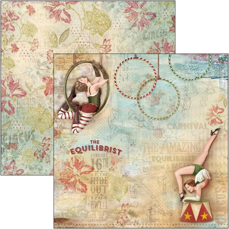 "53496 Ciao Bella Double-Sided Cardstock 90lb 12""X12"" The Equilibrist, The Greatest Show (CBSS087)."