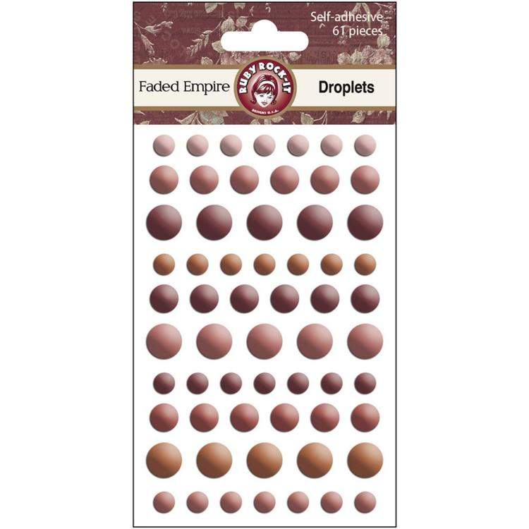 53514 Faded Empire Self-Adhesive Droplets 61/Pkg.