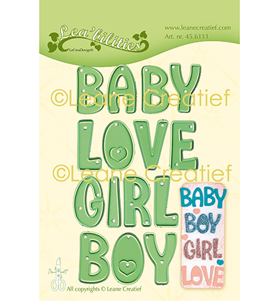 53521 Leane Creatief Words Baby, Boy, Girl, Love (45.6111).