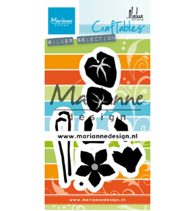 53561 Marianne Design Craftable Punch Die Cyclamen by Marleen (CR1479).