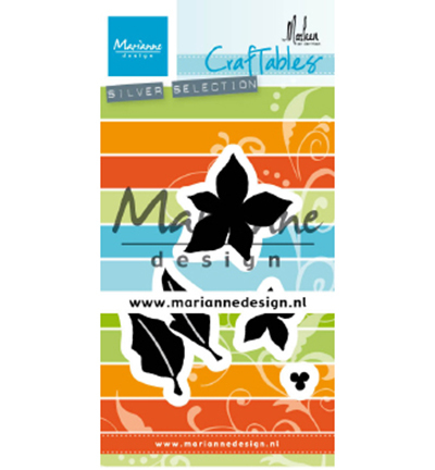 53562 Marianne Design Craftable Punch Die Poinsettia by Marleen (CR1478).