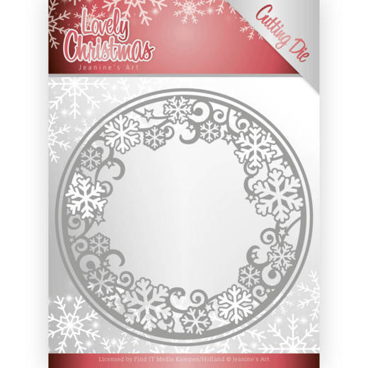 53598 Dies - Jeanine's Art - Lovely Christmas - Lovely Circle Frame (JAD10078).