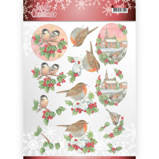 53601 3D Knipvel - Jeanine's Art - Lovely Christmas - Lovely Birds (CD11378).