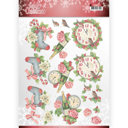 53602 3D Knipvel - Jeanine's Art - Lovely Christmas - Lovely Christmas Time (CD11377).