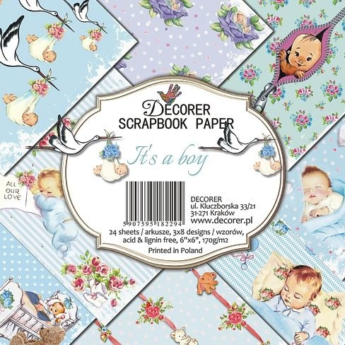 53614 Decorer It's a Boy 6x6 Inch Paper Pack (DECOR-C26-229).
