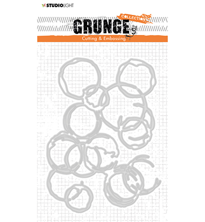 53674 Studio Light  Cutting and Embossing Die, Grunge Collection 3.0, nr.224 (STENCILSL224 ).