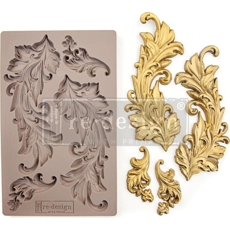 "53701 Prima Marketing Re-Design Mould 5""X8"" Baroque Swirls (635725)."
