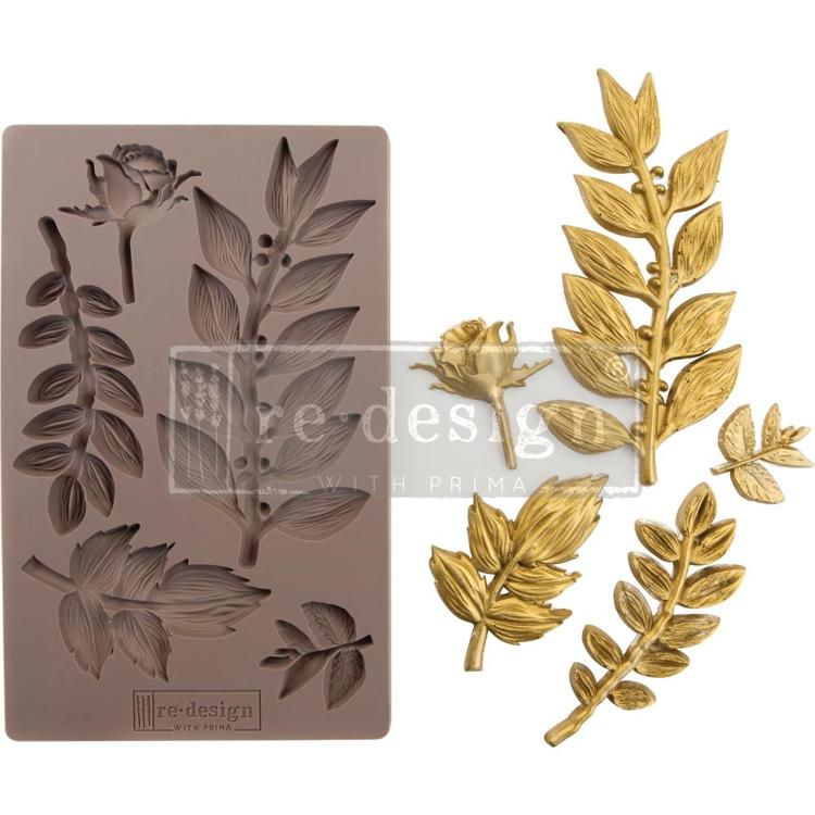"53703 Prima Marketing Re-Design Mould 5""X8"" Leafy Blossoms (635756)."