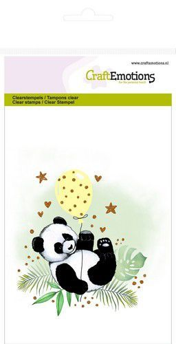 53820 CraftEmotions Clearstamps A6 - Panda (130501/1305).