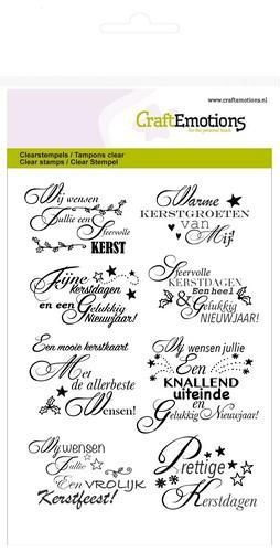 53822 CraftEmotions Clearstamps A6 - Tekst NL Kerstwensen (130501/1157).