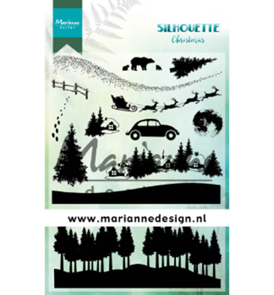 53853 Marianne Design Silhouette Christmas Clearstamp (CS1040).