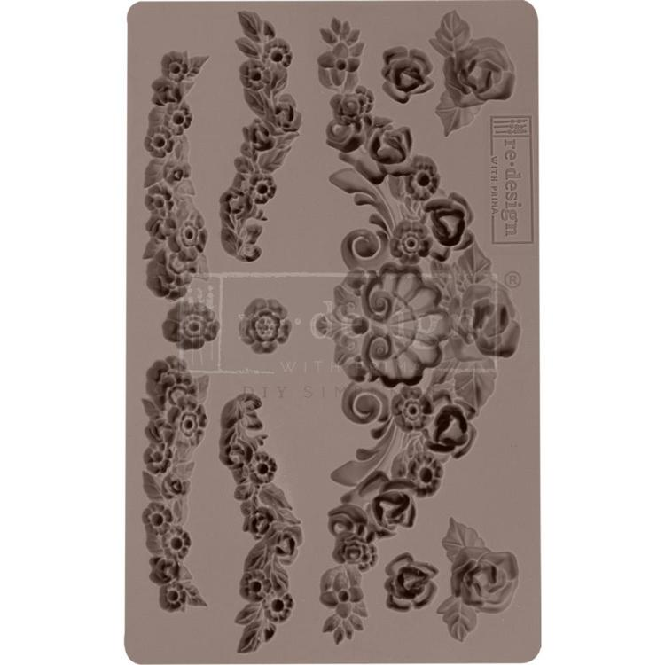 "53899 Prima Marketing Re-Design Mould 5""X8""X12mm Tillurie Flourish (636364)."